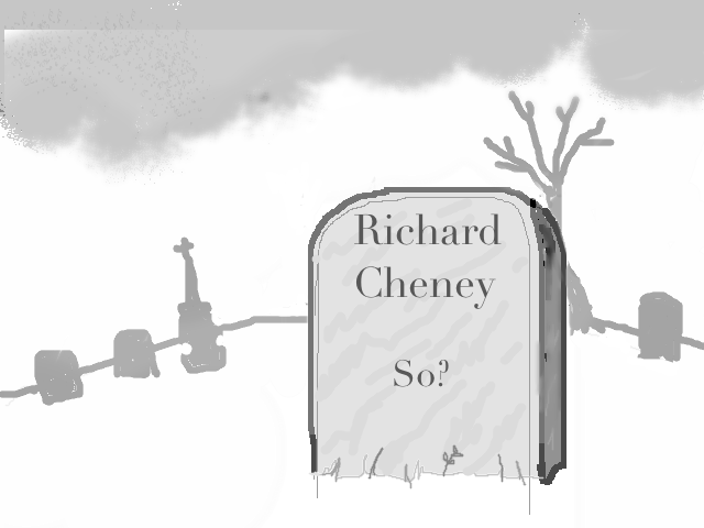 Cheney headstone - by davidw
