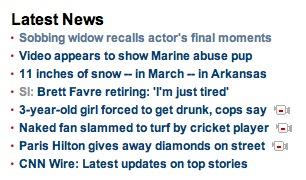 list of tawdry news