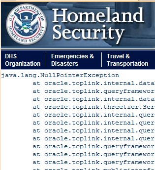 DHS screen capture