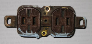 old electrical plug