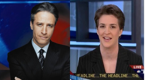 Maddow looks like Jon Stewart