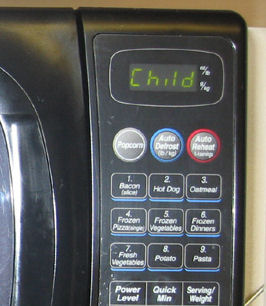 Child Microwave Message
