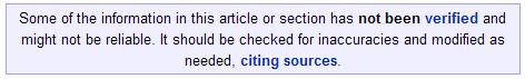 Wikipedia Warning