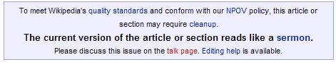 Wikipedia Warning