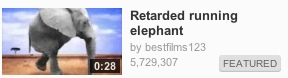 Retarded Elephant Running